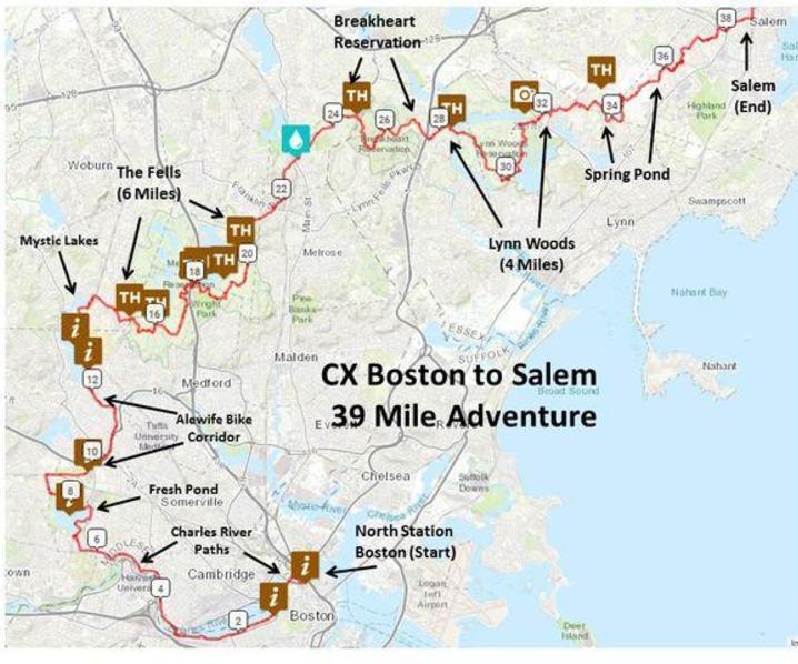 Boston to Salem, Advanced Level Cyclo-Cross Tour